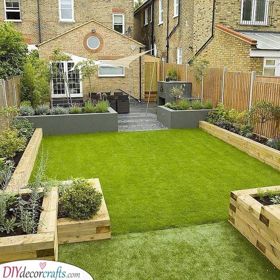 Divided into Two - Small Garden Ideas on a Budget