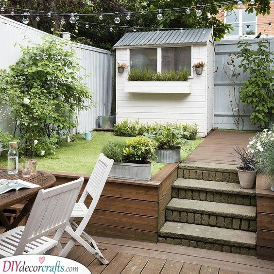 Include a Garden Shed - Storage Space