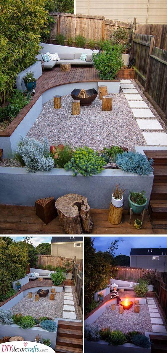 Add a Fire Pit - Small Garden Ideas on a Budget