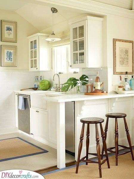 Bright and White - Kitchen Ideas for Small Spaces