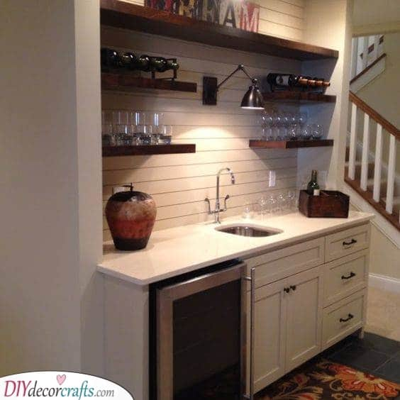Create a Mini Bar - Perfect for Entertaining Guests
