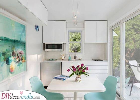 Peaceful and Stunning - Small Kitchen Cabinet Ideas