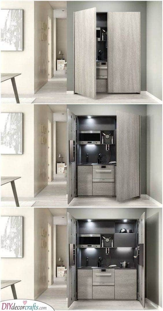 A Kitchenette in Disguise - Kitchen Ideas for Small Spaces