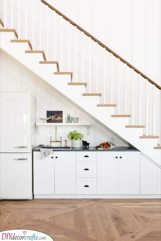 Underneath the Stairs - Kitchen Ideas for Small Spaces