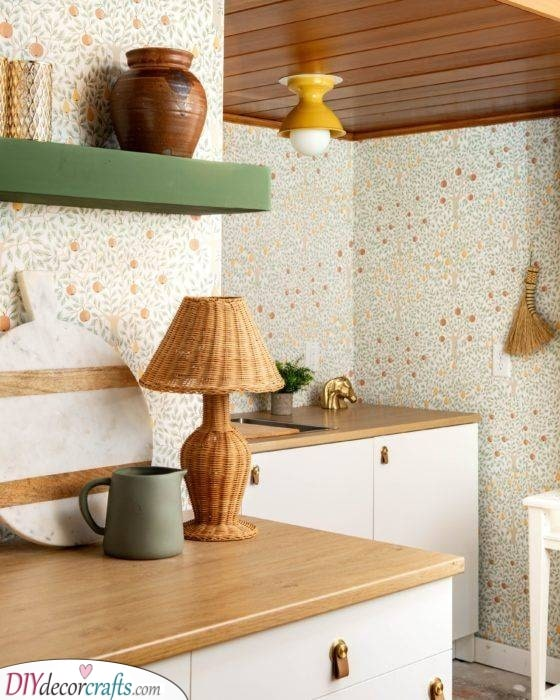 Organic and Natural - Small Kitchen Cabinet Ideas