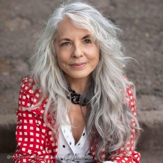 Long Hair for Women Over 50 - Effortlessly Elegant