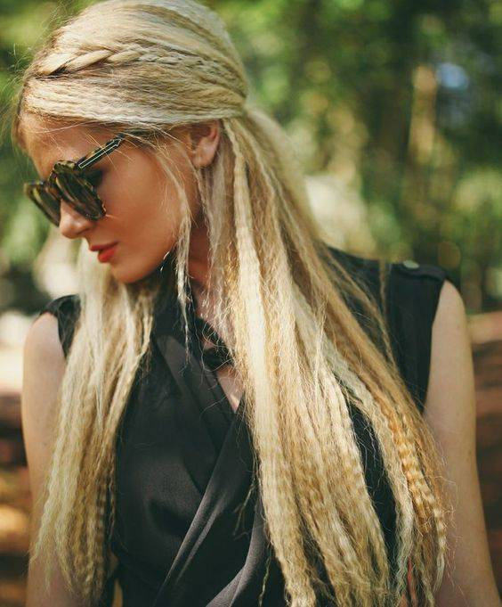 Crimped Hairstyles - Crimped Wavy Hair